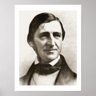 Retrato de Ralph Waldo Emerson Póster