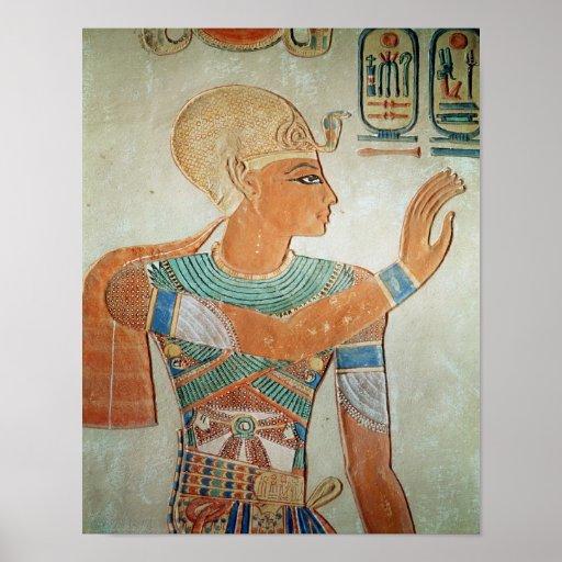 Retrato de Ramesses III de Póster