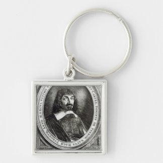 Retrato de Rene Descartes 1644 Llaveros