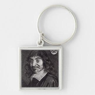 Retrato de Rene Descartes Llaveros