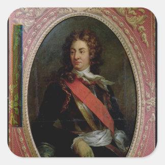 Retrato de Rene Duguay-Trouin 1736 Pegatina Cuadrada