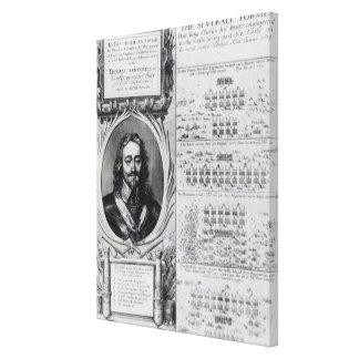 Retrato de rey Charles I con los diagramas Impresión En Lienzo