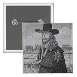 Retrato de rey Charles I Pin Cuadrada 5 Cm