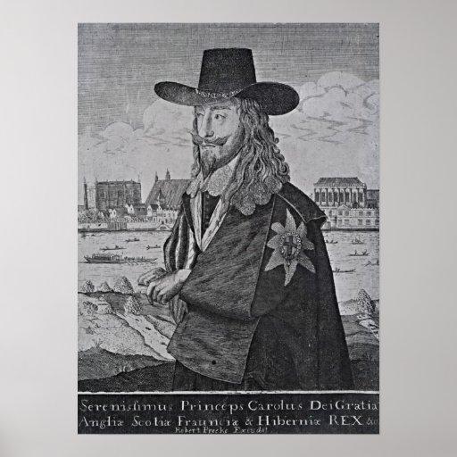 Retrato de rey Charles I Póster