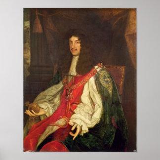 Retrato de rey Charles II c 1660-65 Impresiones