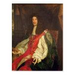 Retrato de rey Charles II, c.1660-65 Tarjetas Postales