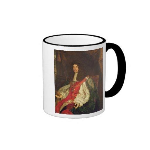 Retrato de rey Charles II, c.1660-65 Taza A Dos Colores