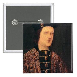 Retrato de rey Edward IV de Inglaterra Pin Cuadrada 5 Cm