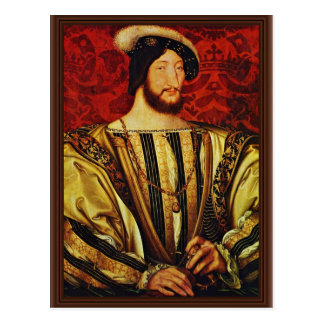 Retrato de rey Francisco I Of Francia por Clouet Postal