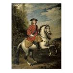 Retrato de rey George I, 1717 Postal