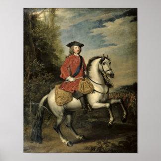 Retrato de rey George I, 1717 Póster