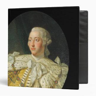 """Retrato de rey George III después de 1760 Carpeta 1 1/2"""""""