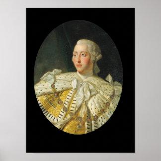 Retrato de rey George III después de 1760 Póster