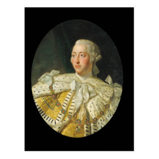 Retrato de rey George III después de 1760 Tarjeta Postal
