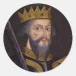 Retrato de rey Guillermo I The Conqueror Pegatina Redonda