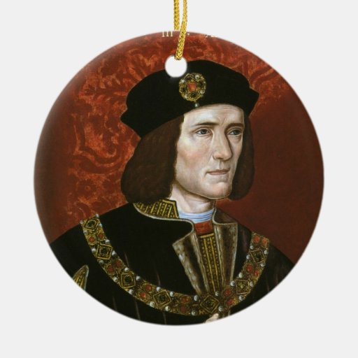 Retrato de rey inglés Richard III Ornamentos De Navidad