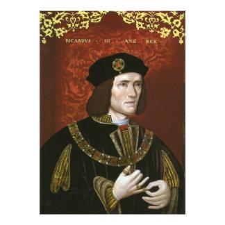 Retrato de rey inglés Richard III Cojinete
