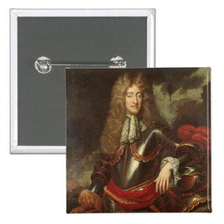 Retrato de rey James II, c.1690 Pin Cuadrada 5 Cm