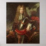 Retrato de rey James II, c.1690 Póster