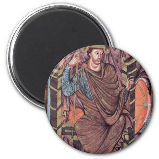 Retrato de rey Lothar By Meister Des Lothar-Evan Iman De Frigorífico