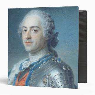 "Retrato de rey Louis XV 1748 Carpeta 1 1/2"""