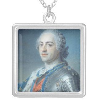 Retrato de rey Louis XV 1748 Colgante Cuadrado