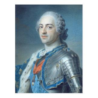 Retrato de rey Louis XV 1748 Postales