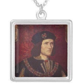 Retrato de rey Richard III Collar Plateado