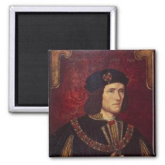 Retrato de rey Richard III Imán Cuadrado