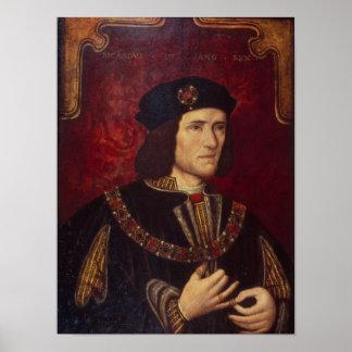 Retrato de rey Richard III Poster