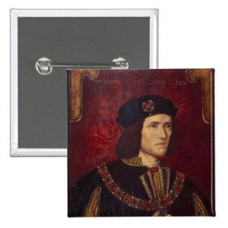 Retrato de rey Richard III Pin Cuadrada 5 Cm