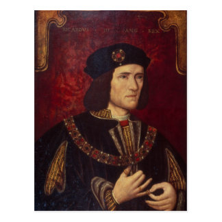 Retrato de rey Richard III Postal