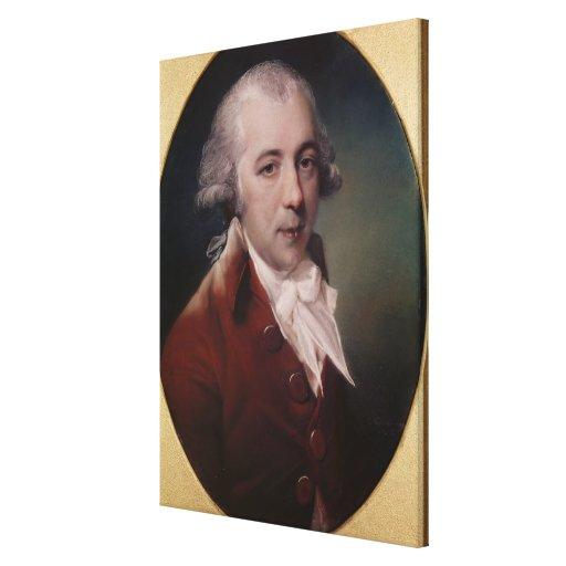 Retrato de Richard Brinsley Sheridan 1788 Impresiones De Lienzo