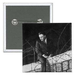 Retrato de Richard Burton Pin Cuadrada 5 Cm