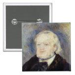Retrato de Richard Wagner 1882 Pin Cuadrada 5 Cm