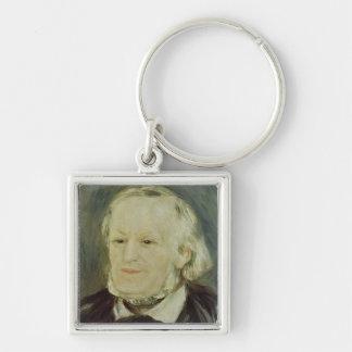 Retrato de Richard Wagner, 1893 Llavero Cuadrado Plateado