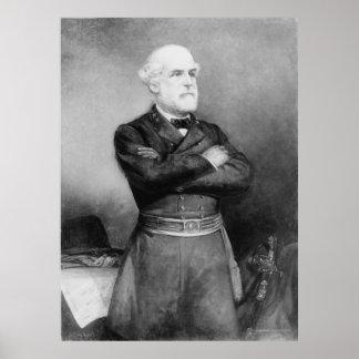 Retrato de Robert Edward Lee por la anciano de Joh Póster