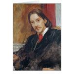 Retrato de Robert Louis Stevenson 1886 Tarjeta De Felicitación