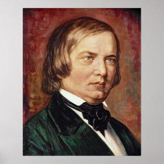 Retrato de Robert Schumann Posters
