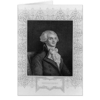 Retrato de Robespierre Felicitacion