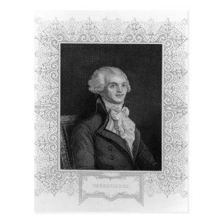 Retrato de Robespierre Postales