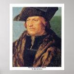 Retrato de Rodrigo De Almada By Albrecht Dürer Poster