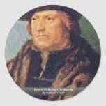 Retrato de Rodrigo De Almada By Albrecht Dürer Pegatinas