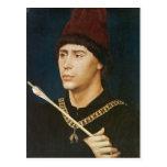 Retrato de Rogier Weyden- de Antoine Tarjetas Postales