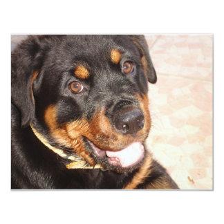 Retrato de Rottweiler Invitacion Personalizada