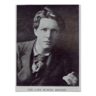Retrato de Rupert Brooke Póster
