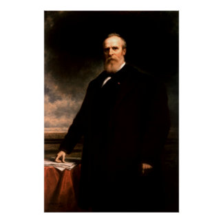 Retrato de RUTHERFORD B. HAYES de Daniel Huntingto Póster