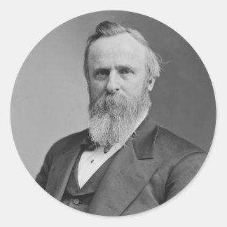 Retrato de Rutherford B. Hayes de Mathew Brady Etiqueta Redonda