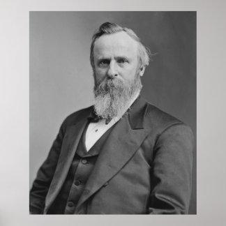 Retrato de Rutherford B. Hayes de Mathew Brady Póster