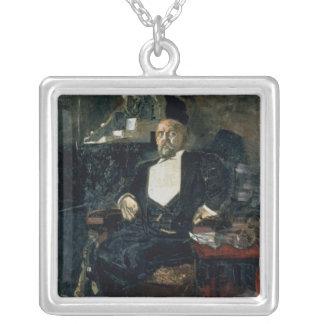 Retrato de S. Mamontov Colgante Cuadrado